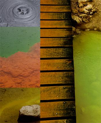 La combinación de colores de Wai -O-Tapu