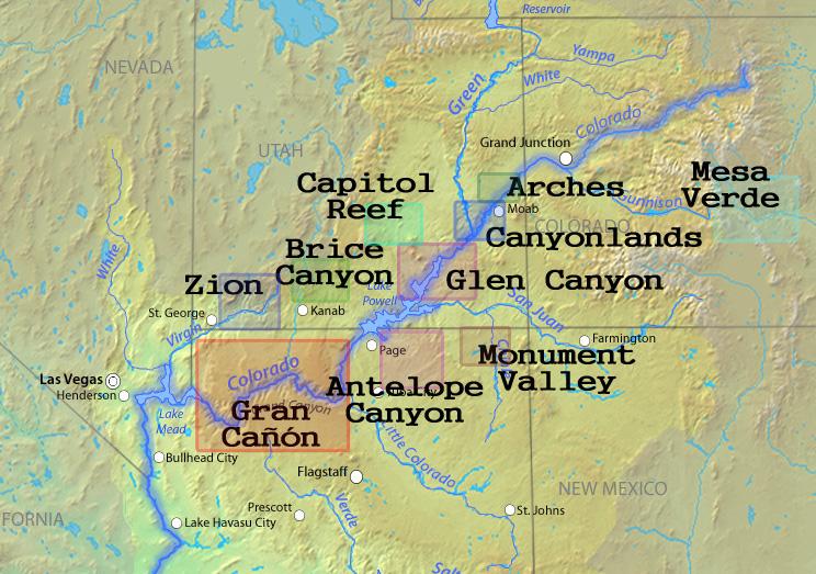 Existen numerosos Parques Nacionales en la zona