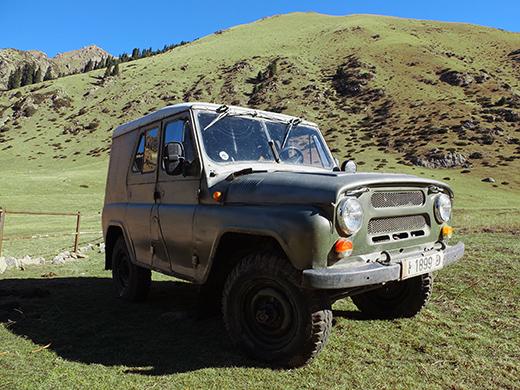 El viejo Jeep Ruso
