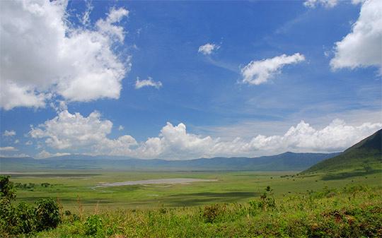 El cráter del Ngorongoro