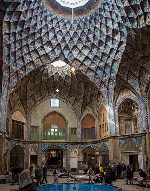 Techumbres del bazar de Kashan