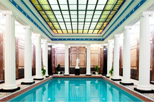 La famosa piscina de la sauna Sanduny