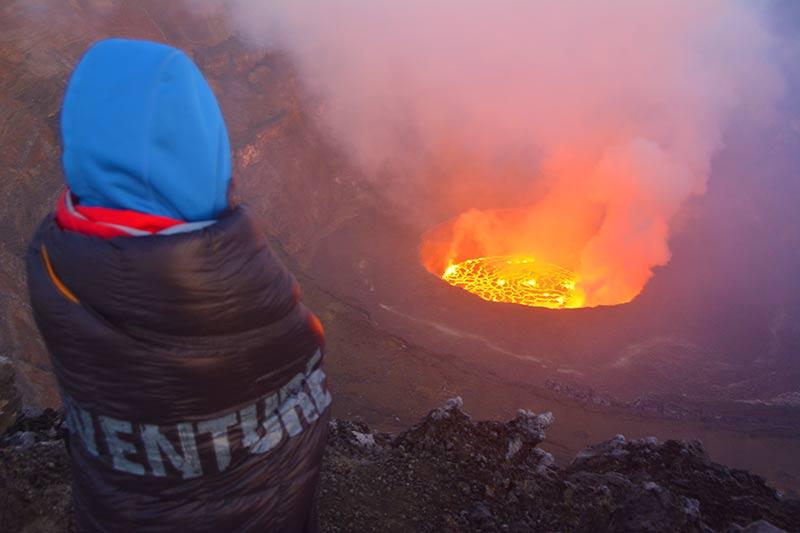 Amanecer junto al volcán
