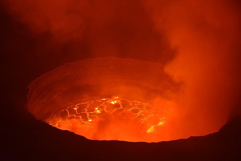 El espectáculo del Nyiragongo