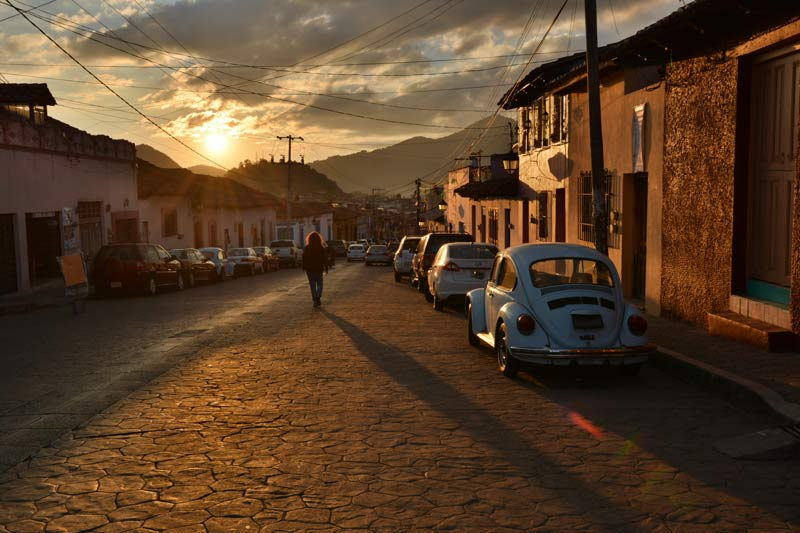 Atardecer en San Cristóbal de Las casas
