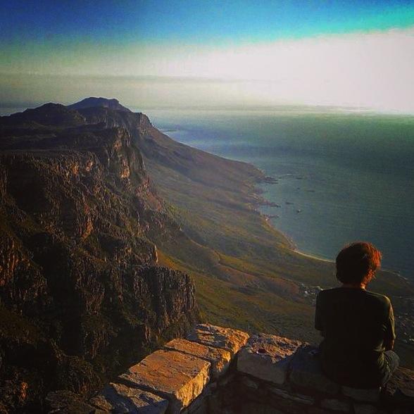 Vistas del atardecer desde lo alto de la Table Mountain