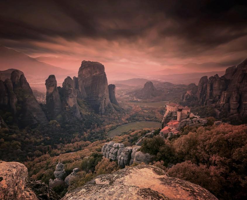 Paisaje de Meteora