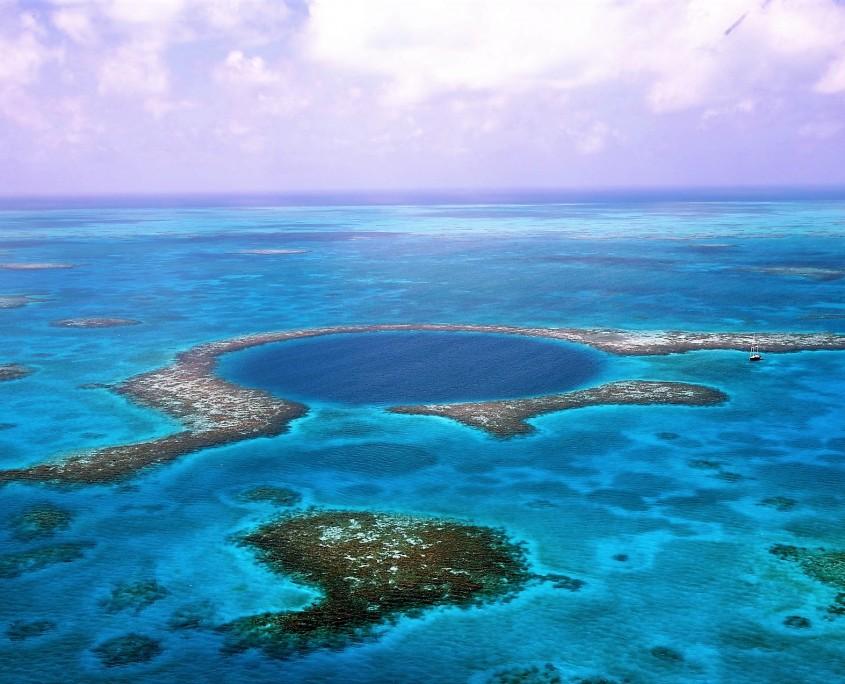 Imagen aérea del Blue Hole