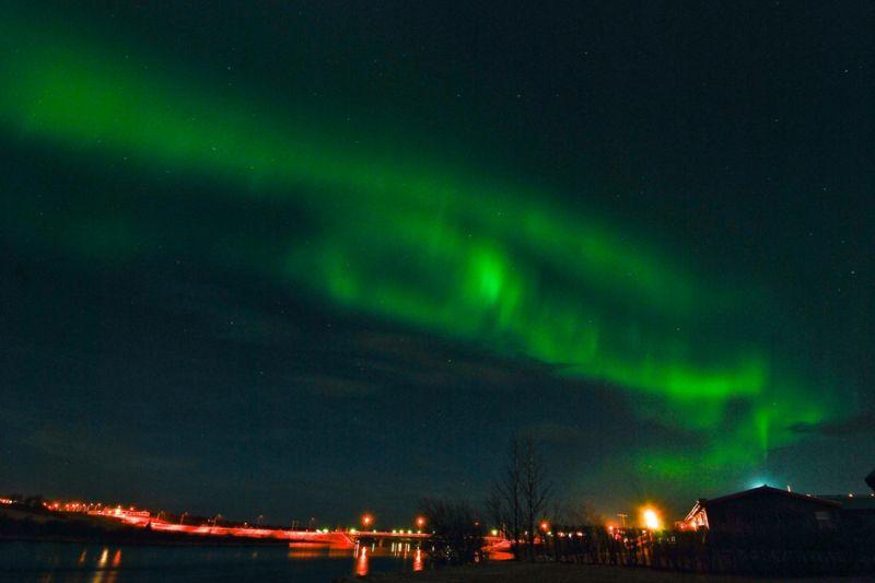 Foto de Ruta por Auroras Boreales cielo isladia