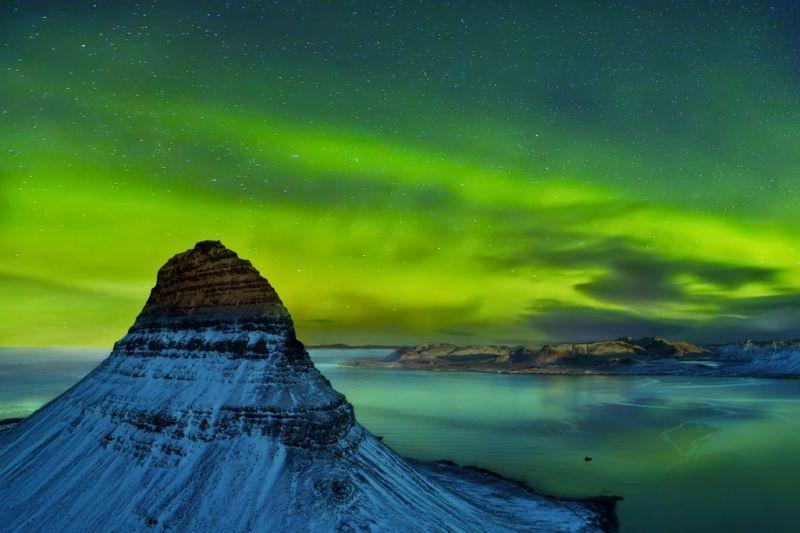 Foto de Ruta por Auroras Boreales montaña Kirkjufell