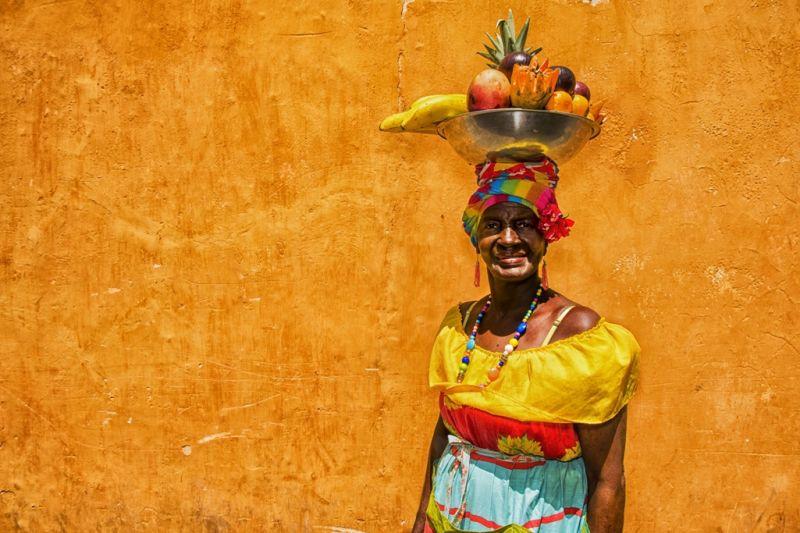 Foto de Ruta por La atracción de Sudamérica Mujer tradicional de Cartagena de Indias