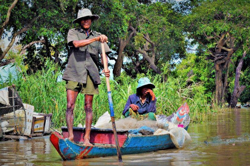Foto de Ruta por Los dioses de Angkor Pescadores regresando a casa