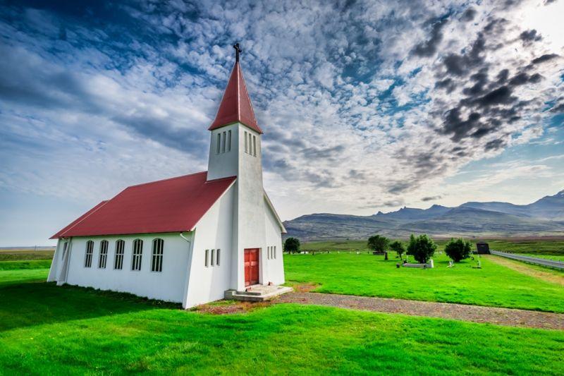 Foto de Ruta por Naturaleza Artica Church In Mountain