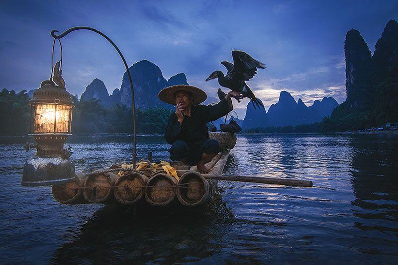 Foto de Ruta por Paisajes desde Shanghai a Hong Kong la pesca con cormorán en Yangshuo