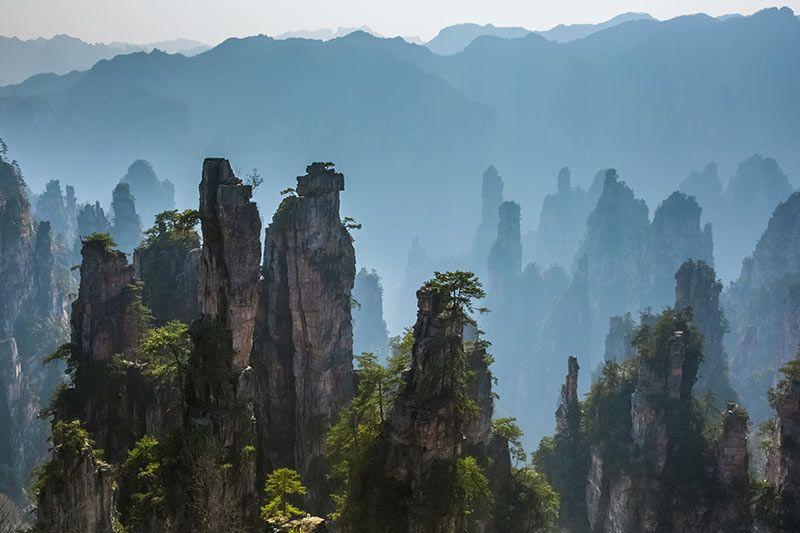 Foto de Ruta por Paisajes desde Shanghai a Hong Kong Paisaje del parque de Zhangjiajie
