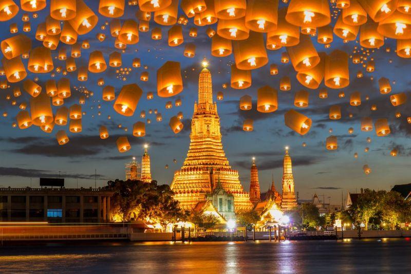 Foto de Ruta por Recuerdos de Tailandia Floating lamp in yee peng