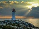 Viaje a Canada - Faro en la Costa de Nueva Escocia