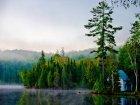 Viaje a Canada - Amanecer a orillas del lago