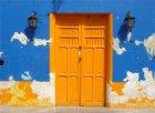 Viaje a Mexico - Puerta y pared pintadas