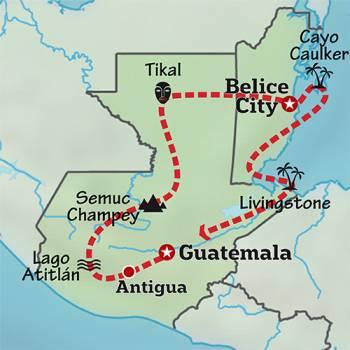Mapa de Abrumadora Centroamérica