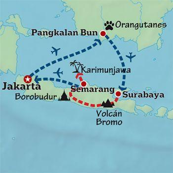 Mapa de Aventura indonesia en familia