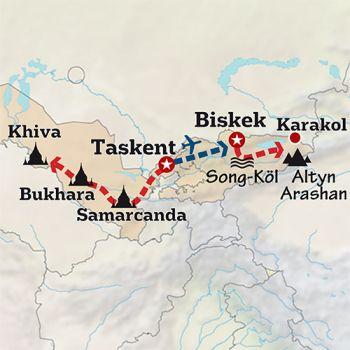 Mapa de El alma de la Ruta de la Seda