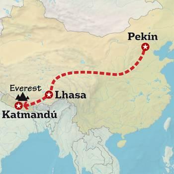 Mapa de En el corazón de los Himalayas