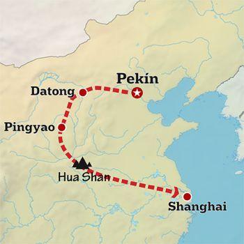 Mapa de Escapada a China