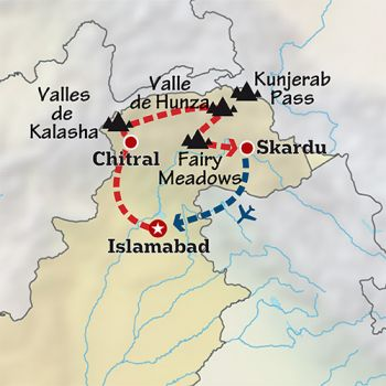 Mapa de Explorando el Karakorum