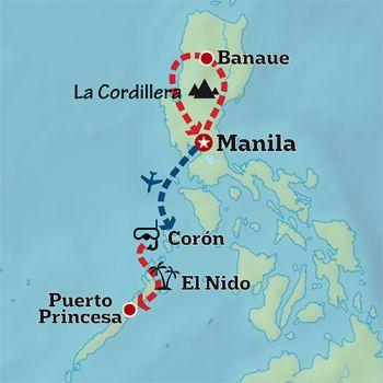 Mapa de Filipinas en Acción