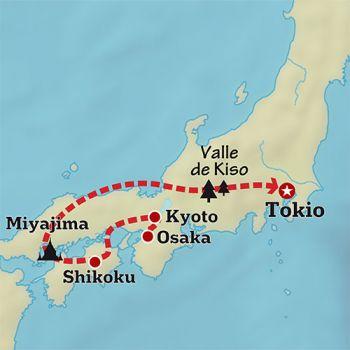 Mapa de Japón espiritual