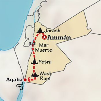 Mapa de Jordania en familia