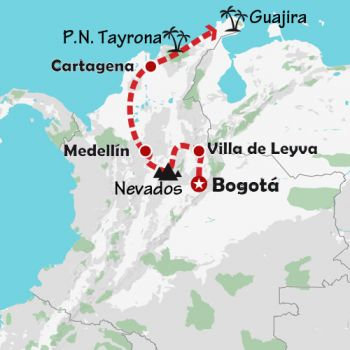 Mapa de La atracción de Sudamérica