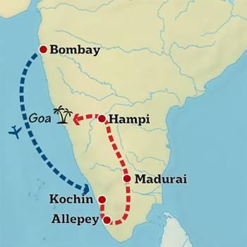 Mapa de La India menos conocida