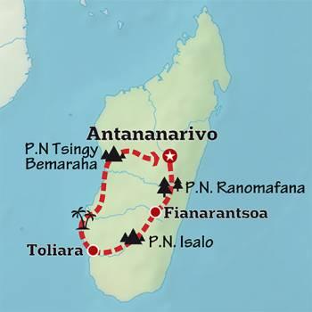 Mapa de La isla Inaudita