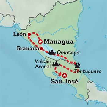 Mapa de La magia de Centroamérica