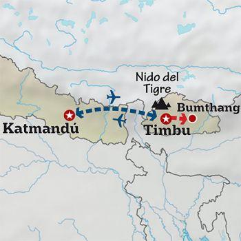 Mapa de La reserva espiritual de los Himalayas