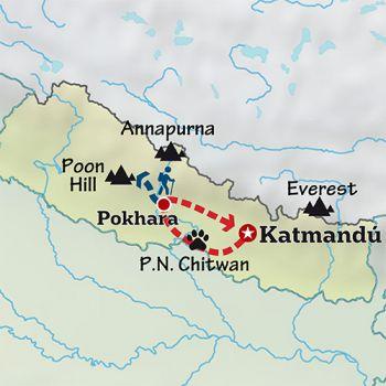 Mapa de La sonrisa del Himalaya