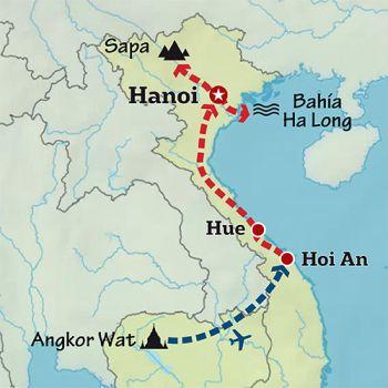 Mapa de Las colinas del Sudeste Asiático