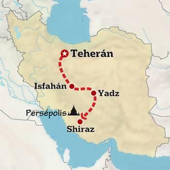 Mapa de Lo mejor de Persia