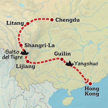 Mapa de Lo mejor del sur de China