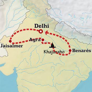 Mapa de Maravilloso Rajastan