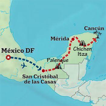 Mapa de México precolombino