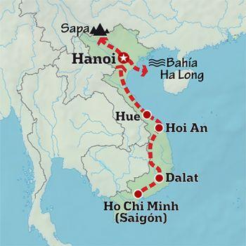 Mapa de Montañas, verdes arrozales y Yoga