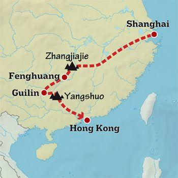 Mapa de Paisajes desde Shanghai a Hong Kong