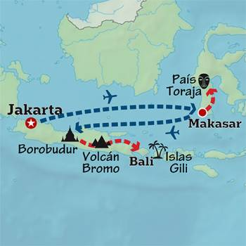 Mapa de Postales de Indonesia