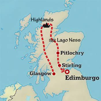 Mapa de Rumbo a las Highlands