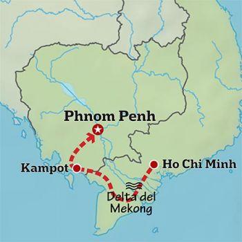 Mapa de Siguiendo el Mekong