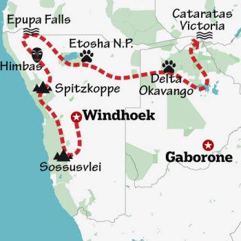 Mapa de Tras los pasos de Livingstone