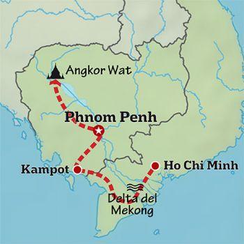 Mapa de Yoga en el Mekong